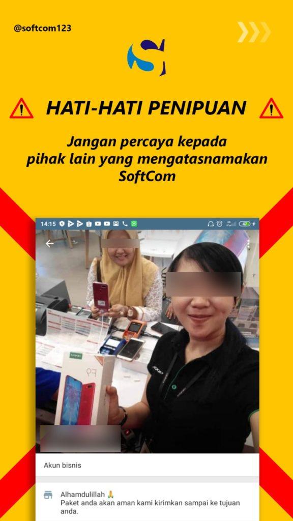 Penipuan Belanja Online Atas Nama Softcom - 1